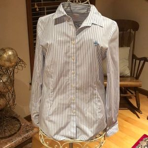 Brooke Brothers Non-Iron Button Down Striped Shirt
